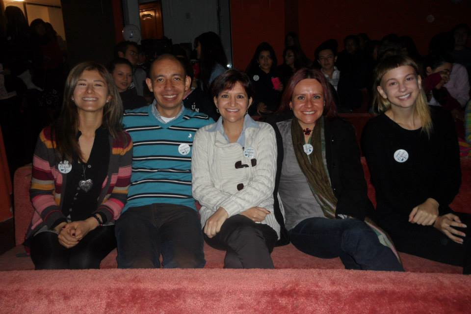 Rebecca and co-workers celebrating the 10th annniversary of UNICA, the institution where Rebecca fulfilled her grant.